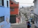 Streets of Comite del Pueblo, a  working-class neighborhood in notheast Quito