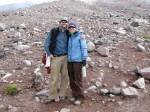 The author and her husband begin  their hike from Carrel Hut (15,900 feet)