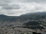 A view of sprawling Quito