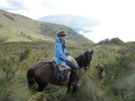 The author enjoys horseback riding in  the hills outside Quito