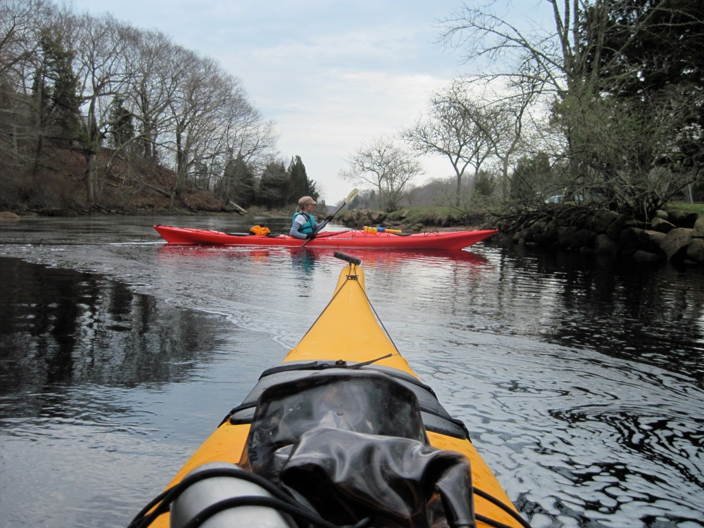 The author kayaking on a Buzzards Bay tributary (Photo courtesy of Rob Mark)